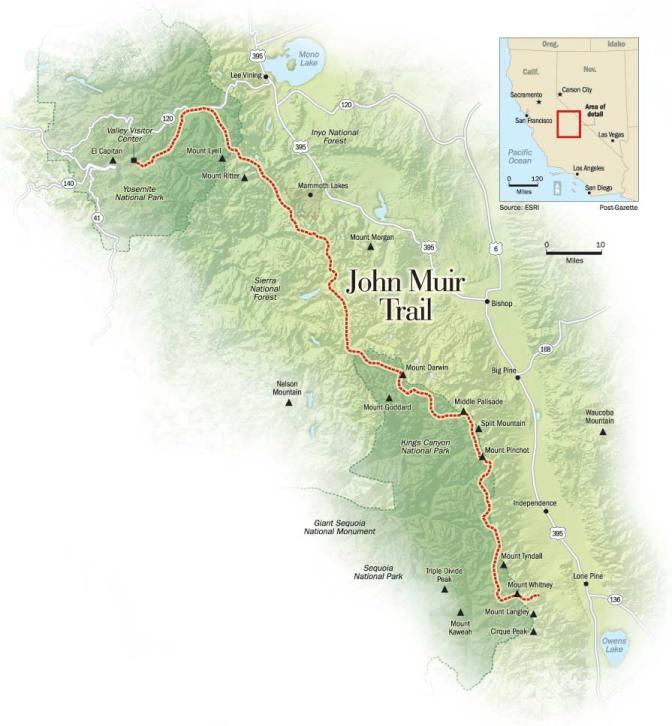 John-Muir-Trail-Map